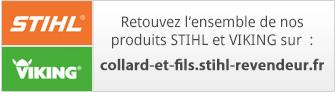 Retouvez l'ensemble de nos  produits STIHL et VIKING sur  : collard-et-fils.stihl-revendeur.fr