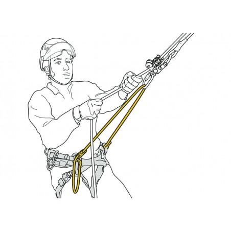 Pont d'attache réglable pour harnais SEQUOIA et SEQUOIA SRT PETZL